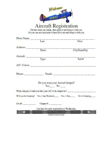 Please click on this Aircraft Registration Form below